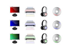 Technological gadgets icons Stock Images