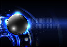 Technological global button modern sphere abstract background ve Royalty Free Stock Photography