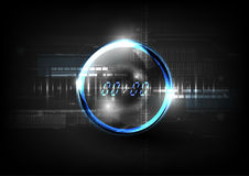 Technological global communication time modern sphere abstract b Stock Images
