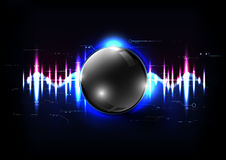 Technological global sound modern sphere abstract background vec Royalty Free Stock Photography
