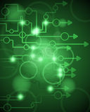 Technological green background Royalty Free Stock Photos