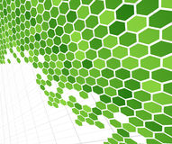 Technological green cells Stock Image