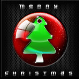 Technological Green Christmas Tree Royalty Free Stock Photography