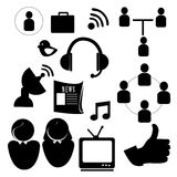 Technological icons Royalty Free Stock Image