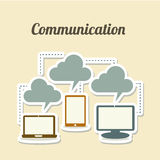 Technological icons. Over white background vector illustration Royalty Free Stock Photos