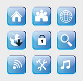 Technological icons Royalty Free Stock Photo