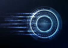 Technological interface future system hud abstract background ve. Ctor design stock illustration