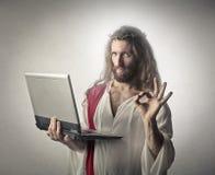 Technological Jesus Royalty Free Stock Image