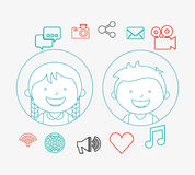 Technological kids. Design, vector illustration graphic vector illustration