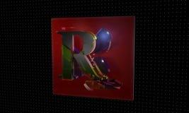 Technological, letter background 3d render Stock Photography