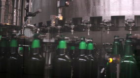 Technological line for bottling of beer in brewery. - stage4 stock video