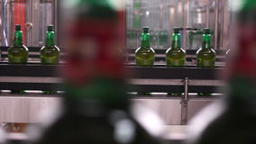 Technological line for bottling of beer in brewery. - stage7 stock video footage