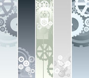 Technological and mechanical banners Royalty Free Stock Photos