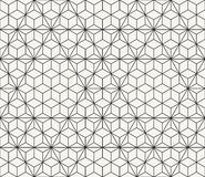 Technological network background with repeating hexagons and triangles Royalty Free Stock Image