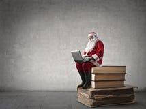 Technological Santa Claus Royalty Free Stock Photos