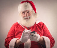 Technological Santa Claus Royalty Free Stock Images