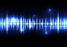 Technological sound wave light effect vector template background Stock Image