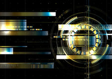 Technological space metallic hud display vector background abstr Stock Images