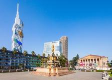 Technological University Tower, Radisson Blu Hotel and Batumi Drama Theatre buildings. Stock Photography