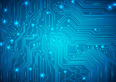 Technological vector background with a circuit board texture Stock Photos