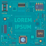 Technological vector background with a circuit board texture. Eps 10 royalty free illustration