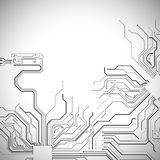 Technological vector background Stock Photo