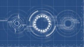 Technologicznego projekta tła techniczny rysunkowy wektor Zdjęcia Stock
