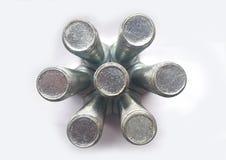 Technologiczny abstrakcjonistyczny metalu tło Zdjęcie Royalty Free