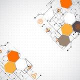 technologiczny abstrakcjonistyczny tło Obraz Royalty Free