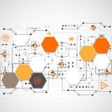 technologiczny abstrakcjonistyczny tło Zdjęcia Stock