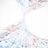 technologiczny abstrakcjonistyczny tło Obraz Stock