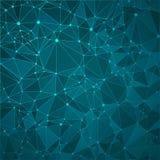 Technologiczny błękitny tło z wzorem royalty ilustracja