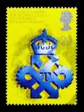 Technologiczny nagroda za osiągnięcia, 25th rocznica królowej ` s nagroda dla seria, eksporta i technologii, około 1990 Zdjęcia Royalty Free