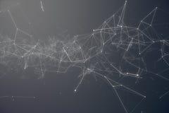 Technologiczny Podłączeniowy Futurystyczny kształt Szarości kropki sieć Abstrakcjonistyczny tło, Szary tło Pojęcie sieć ilustracja wektor