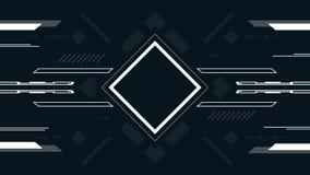 Technologiczny tło z kwadratem Pojęcie projekta hazardu futurystycznego interfejsu użytkownika zaawansowany technicznie ekran ilustracja wektor
