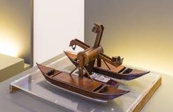 Technologiczny Techniczny muzeum wymieniający po Leonardo Da Vinci działu, ekspozycji modele przyrząda i technicznego inventi, zdjęcia stock