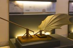 Technologiczny Techniczny muzeum wymieniający po Leonardo Da Vinci działu, ekspozycji modele przyrząda i technicznego inventi, obrazy royalty free
