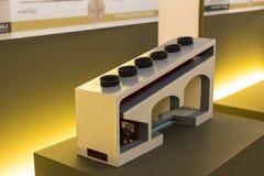Technologiczny Techniczny muzeum wymieniający po Leonardo Da Vinci działu, ekspozycji modele przyrząda i technicznego inventi, fotografia royalty free