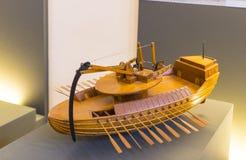 Technologiczny Techniczny muzeum wymieniający po Leonardo Da Vinci działu, ekspozycji modele przyrząda i technicznego inventi, obraz royalty free