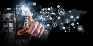 Technologieën die deze wereld verbinden Royalty-vrije Stock Afbeeldingen