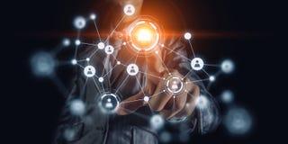 Technologieën die deze wereld verbinden Royalty-vrije Stock Afbeelding