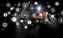 Technologieën die deze wereld verbinden Stock Foto