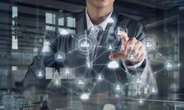 Technologieën die deze wereld verbinden Gemengde media Royalty-vrije Stock Afbeelding