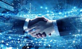 Technologieën om mensen te verbinden Gemengde media Royalty-vrije Stock Afbeelding