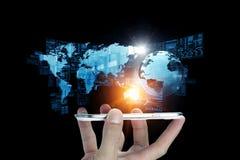 Technologieën voor globale mededeling Stock Afbeeldingen