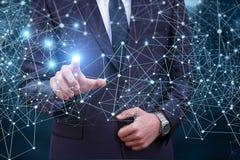 Technologieën voor verbindende bedrijfsmensen Royalty-vrije Stock Foto