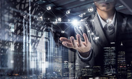 Technologieën voor verbindende mensen Stock Afbeeldingen