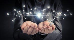 Technologieën voor verbindende mensen Stock Fotografie