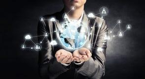Technologieën voor verbindende mensen Gemengde media Royalty-vrije Stock Afbeeldingen
