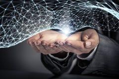 Technologieën voor verbindende mensen Gemengde media Stock Fotografie